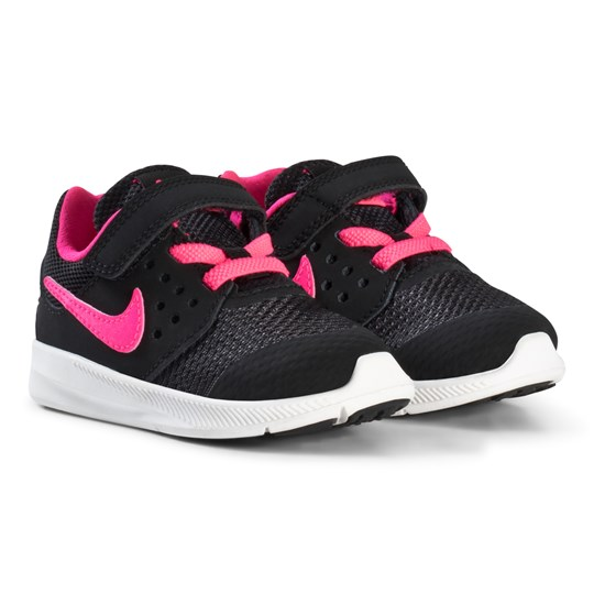 NIKE Black and Pink Downshifter 7 Kids Sneakers 002