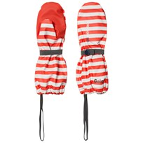 Didriksons Pileglove Kid's Paprika Simple Stripe Red