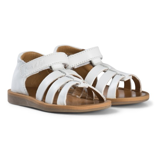 Pom Dapi White Poppy Strap Sandals Blanc