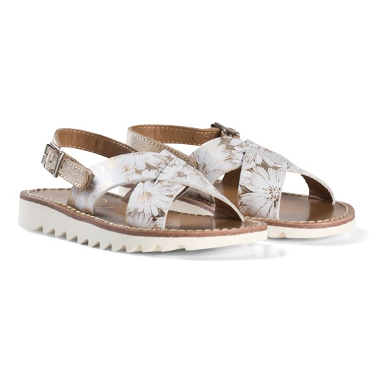 4fdb83151bcc Pom Dapi - Gold Ripple Cross Buckle Sandals - Babyshop.com