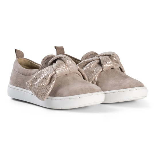 Shoo Pom Play Knot Skor Chevre Delta Taupe Taupe