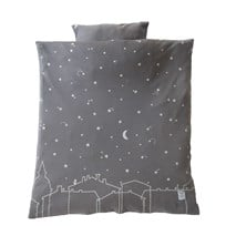 Littleheart Under the Same Sky Bed Set for Pram/Basket Black