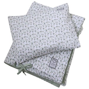 Image of Littleheart Little Anemones Green Bed Set for Crib (2972601997)