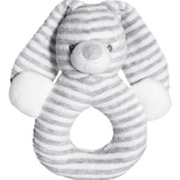 Teddykompaniet Cotton Cuties Rattle Grey Black