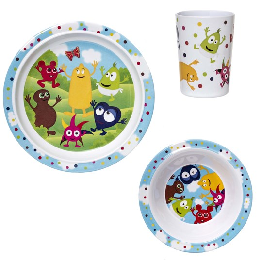 Babblarna 3-Piece Melamine Dining Set Blue