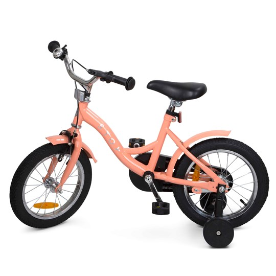 """STOY Classic 14"""" Cykel Peach Pink"""