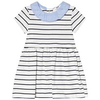 Cyrillus Navy and White Stripe Dress 6408