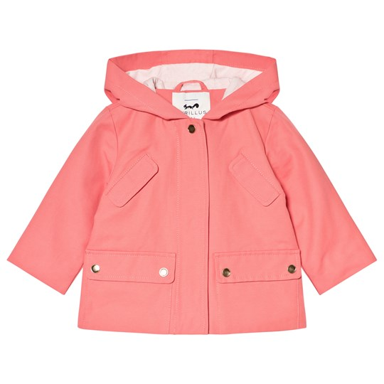 Cyrillus Pink Hooded Raincoat 6649