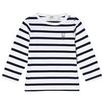Cyrillus Navy and White Lobster Tee 6408