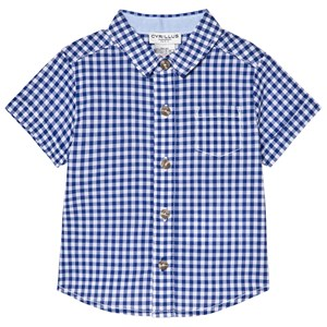 Image of Cyrillus Blue and White Gingham Short Sleeve Shirt 9 months (2979332983)
