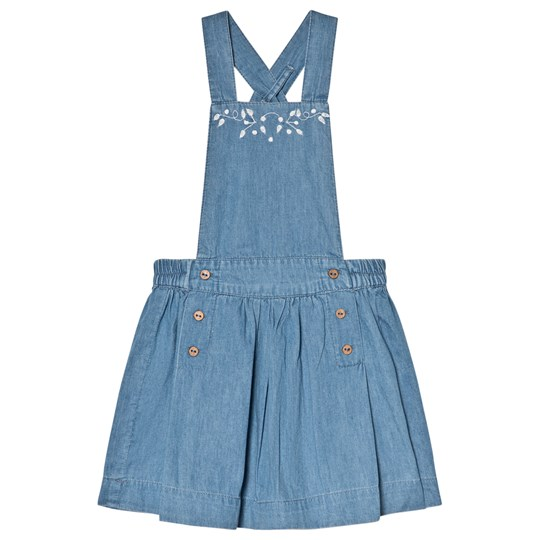 Cyrillus Blue Chambray Embroidered Dress Babyshop Com