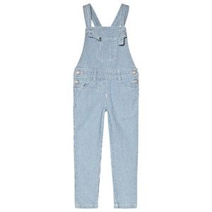 Image of Cyrillus Blue and White Stripe Denim Overalls 6 years (2980467101)