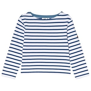 Image of Cyrillus Blue and White Stripe Long Sleeve Tee 10 years (2980467133)