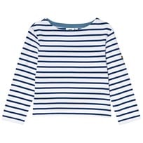 Cyrillus Blue and White Stripe Long Sleeve Tee 6418