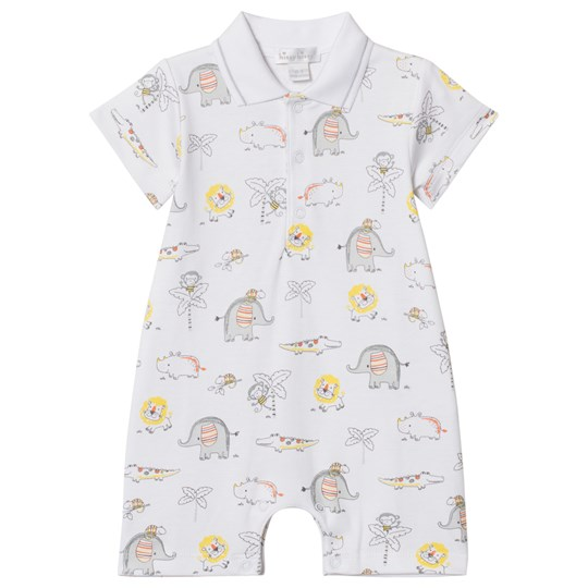 Kissy Kissy Jungle Print Polo Romper Vit WH