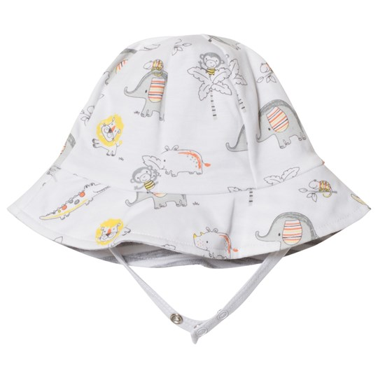 Kissy Kissy White Jungle Animal Print Reversible Sun Hat WH