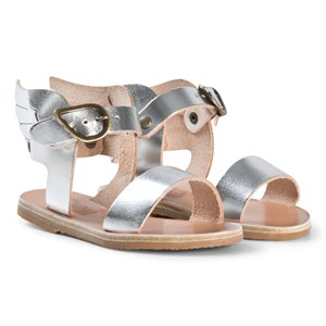 Image of Ancient Greek Sandals Little Ikaria Sandals Silver 23 EU (2980467737)