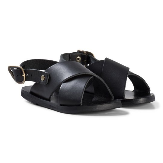 Ancient Greek Sandals Little Maria Sandals Black Black