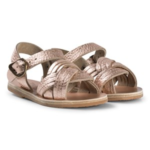 Image of Ancient Greek Sandals Little Electra Sandals Pink Metal/Sand 32 EU (2980467695)