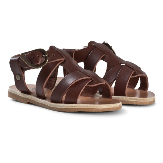 Ancient Greek Sandals Little Leonidas Sandaler Chestnut Chestnut