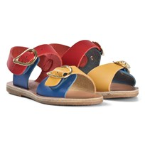 Ancient Greek Sandals Little Irini Sandals Red/Blue/Yellow RED, YELLOW, BLUE