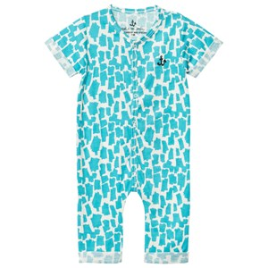 Image of Noe & Zoe Berlin Turquoise Printed One-Piece 3-6 months (2980469203)