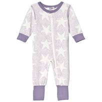 Joha Stars And Spots Baby Nightsuit  Nightsuit Purple Stars & Spots