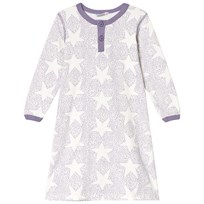Joha Purple Stars And Spots Baby Nightdress Purple Stars & Spots
