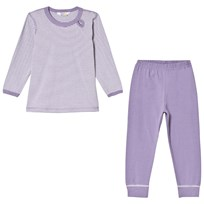 Joha Mini Stripe Pyjama Set Purple Mini Stripe