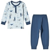 Joha Spaceride Pyjamas Set Blå Spaceride