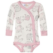Joha Elephant Print Body with Side Closing Pink Elephant