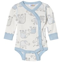 Joha Elephany Print Body with Side Closing Blue Elephant