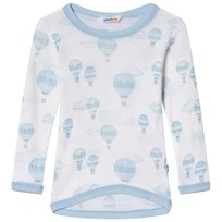 Joha Airballoon Print Blouse with Long Sleeves Blue Airballon
