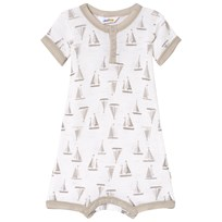 Joha Sea And Sky Summer Suit Baby Body Heather Grey And White Sea & Sky