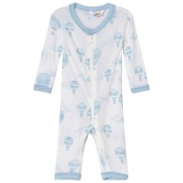 Joha Airballoon Print Jumpsuit Blue and White Airballon