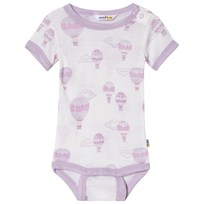 Joha Airballoon Print Short Sleeve Baby Body Pink and White Airballon
