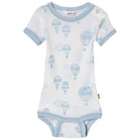 Joha Airballoon Print Short Sleeve Baby Body Blue and White Airballon