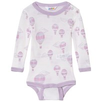 Joha Airballoon Print Long Sleeve Baby Body Pink and White Airballon
