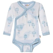 Joha Airballoon Print Wrap Around Baby Body Blue and White Airballon