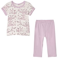Joha Summer Garden Pyjamas Pink and White Garden