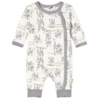 Joha Monkey Print One-Piece Gray and White Monkey