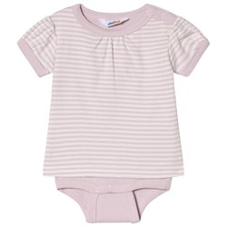 Joha Mini Stripe Body with T-shirt Sleeves Pink