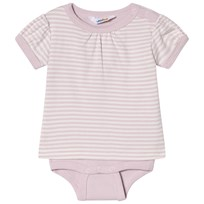 Joha Mini Stripe Body with T-shirt Sleeves Pink Mini Stripe
