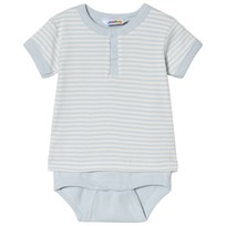 Joha Mini Stripe Body with T-shirt Sleeves Blue Mini Stripe