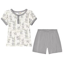 Joha Summer Monkey Print Pyjamas Gray and White Monkey