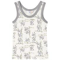 Joha Monkey Print Vest Gray and White Monkey