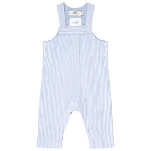 Image of Cyrillus Blue and White Long Overalls 12 months (2979333651)