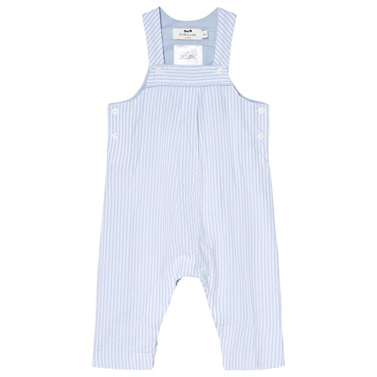 Cyrillus Blue and White Long Overalls 6388