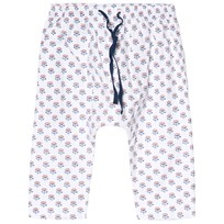 Cyrillus White Floral Print Pull Up Trousers 6626