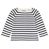 Cyrillus Navy and White Stripe Jumper 6398